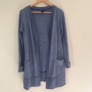 Cynthia Rowley Open-Front Blue Cardigan {Size M}